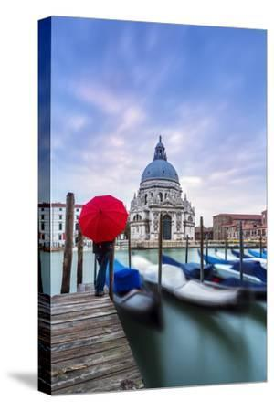 Italy, Veneto, Venice. Santa Maria Della Salute Church on the Grand Canal, at Sunset-Matteo Colombo-Stretched Canvas Print