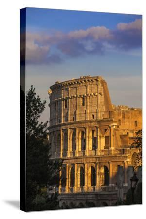 Italy, Lazio, Rome, the Colosseum-Jane Sweeney-Stretched Canvas Print