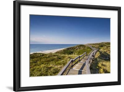 Wodden Path in the Dunes, Wenningstedt, Sylt Island, Northern Frisia, Schleswig-Holstein, Germany-Sabine Lubenow-Framed Photographic Print