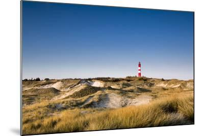 Lighthouse in the Dunes, Amrum Island, Northern Frisia, Schleswig-Holstein, Germany-Sabine Lubenow-Mounted Photographic Print