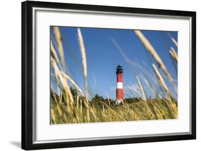 Lighthouse, Hörnum, Sylt Island, Northern Frisia, Schleswig-Holstein, Germany-Sabine Lubenow-Framed Photographic Print