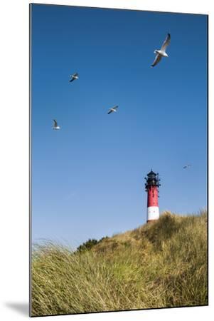 Lighthouse, Hörnum, Sylt Island, Northern Frisia, Schleswig-Holstein, Germany-Sabine Lubenow-Mounted Photographic Print