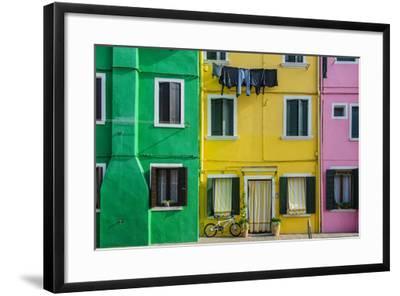 Colourful Painted Houses in Burano, Veneto, Italy-Stefano Politi Markovina-Framed Photographic Print