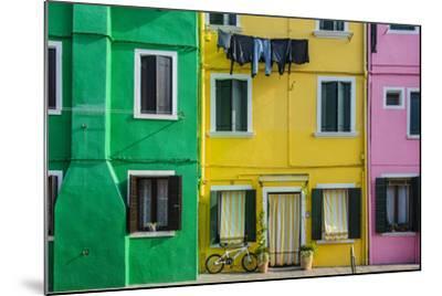 Colourful Painted Houses in Burano, Veneto, Italy-Stefano Politi Markovina-Mounted Photographic Print
