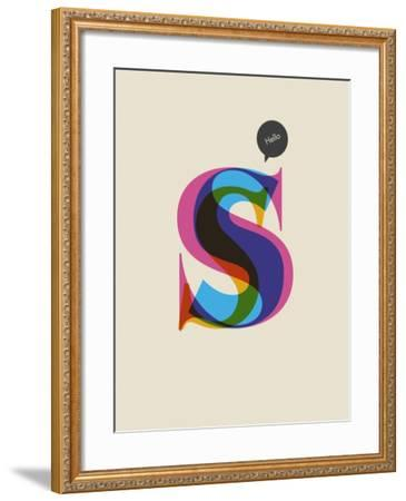 S--Framed Art Print