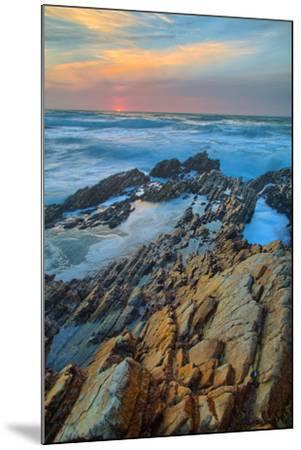 Sunset Seascape at Montaña de Oro--Mounted Photographic Print