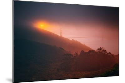Murky Gold, Golden Gate, Sun and Fog, San Francisco--Mounted Photographic Print