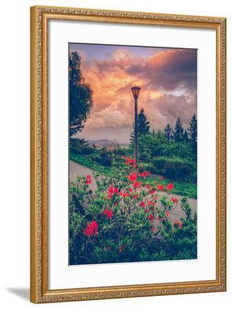 Spring Storm at Pittock Mansion, Portland Oregon--Framed Photographic Print