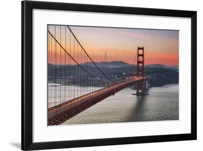 Morning Sky and South Tower, Golden Gate Bridge--Framed Photographic Print