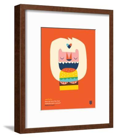 WeeHeeHee, Medium-Rawr-Wee Society-Framed Premium Giclee Print