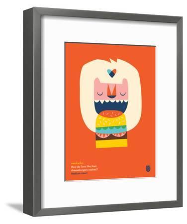 WeeHeeHee, Medium-Rawr-Wee Society-Framed Giclee Print