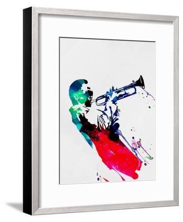 Miles Watercolor-Lora Feldman-Framed Premium Giclee Print