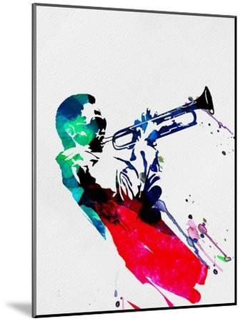 Miles Watercolor-Lora Feldman-Mounted Premium Giclee Print