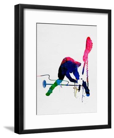 Joe Watercolor-Lora Feldman-Framed Premium Giclee Print