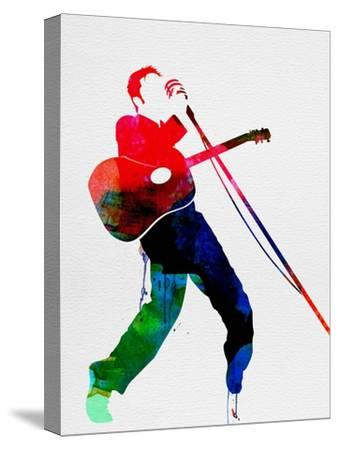 Elvis Watercolor-Lora Feldman-Stretched Canvas Print