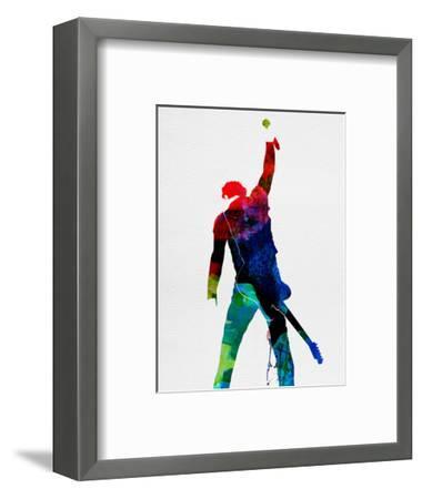 Bruce Watercolor-Lora Feldman-Framed Art Print