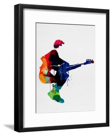 The Police Watercolor-Lora Feldman-Framed Premium Giclee Print