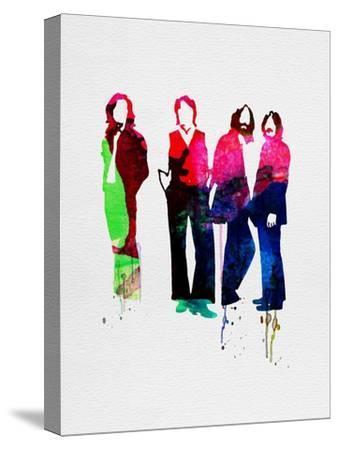 Beatles Watercolor-Lora Feldman-Stretched Canvas Print