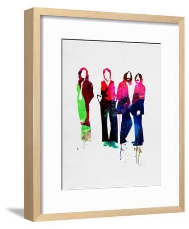 Beatles Watercolor-Lora Feldman-Framed Premium Giclee Print