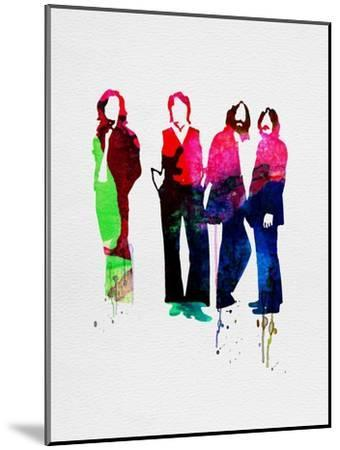 Beatles Watercolor-Lora Feldman-Mounted Premium Giclee Print