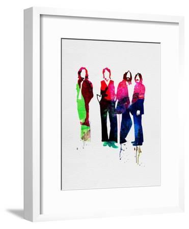 Beatles Watercolor-Lora Feldman-Framed Art Print