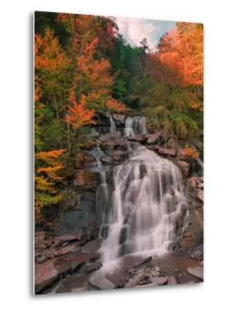 Autumn at Bastion Falls, New York-Vincent James-Metal Print