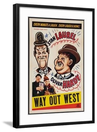 Way Out West, 1937--Framed Giclee Print