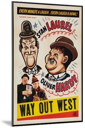 Way Out West, 1937--Mounted Giclee Print
