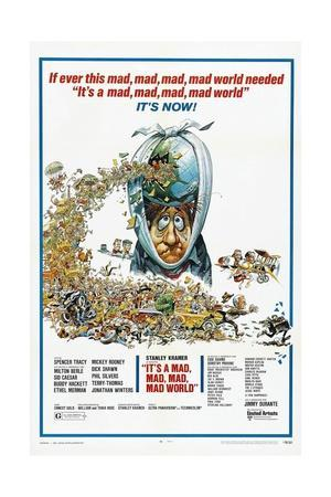 It's a Mad Mad Mad Mad World, 1963--Framed Giclee Print