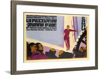 The Passion of Joan of Arc, 1928 (La Passion De Jeanne D'Arc)--Framed Giclee Print