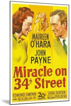Miracle on 34th Street, 1947--Mounted Giclee Print