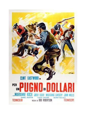 Fistful of Dollars, 1964 (Per Un Pugno Di Dollari)--Framed Giclee Print