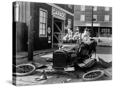 The Garage, 1919--Stretched Canvas Print