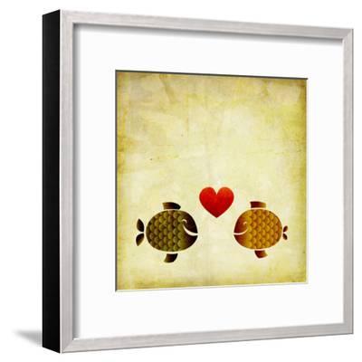 Peces Love Love- elimg-Framed Art Print