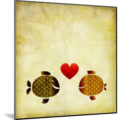Peces Love Love- elimg-Mounted Art Print