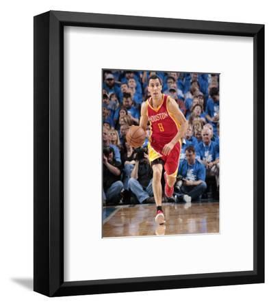 Houston Rockets v Dallas Mavericks - Game Three-Glenn James-Framed Photo
