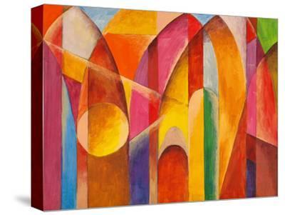 An Abstract Painting, Suggestive of Architecture-clivewa-Stretched Canvas Print