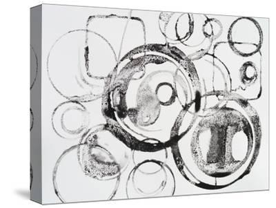 A Grainy Pattern of Stamped and Painted Rings-clivewa-Stretched Canvas Print