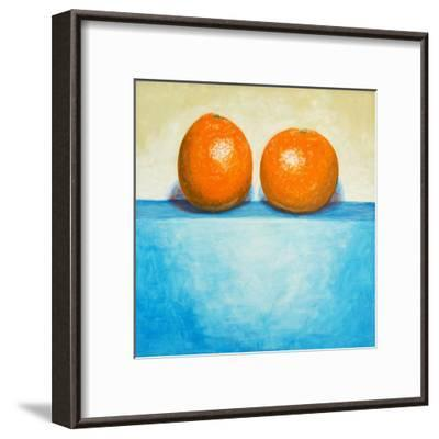 A Painting of Two Oranges-clivewa-Framed Art Print