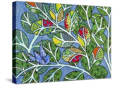 Indigo-Debra Denise Purcell-Stretched Canvas Print