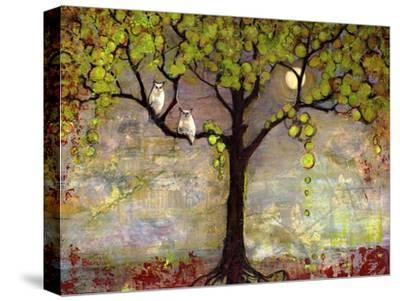 Moon River Tree-Blenda Tyvoll-Stretched Canvas Print