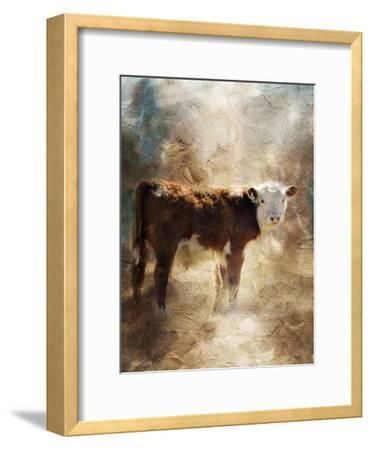 Calf in the Sunday Sun-Jai Johnson-Framed Giclee Print