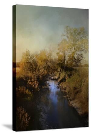 Blue Creek in Autumn-Jai Johnson-Stretched Canvas Print