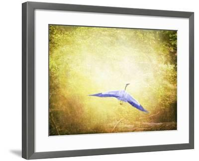 Blue Heron in the Light-Jai Johnson-Framed Giclee Print