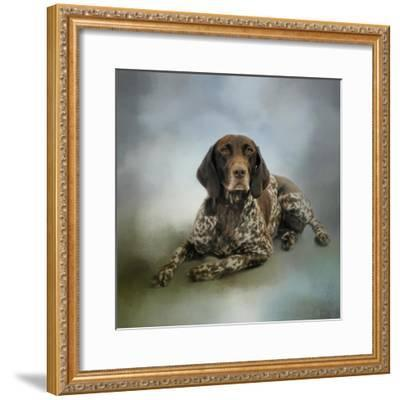 Waiting for a Cue German Shorthaired Pointer-Jai Johnson-Framed Giclee Print
