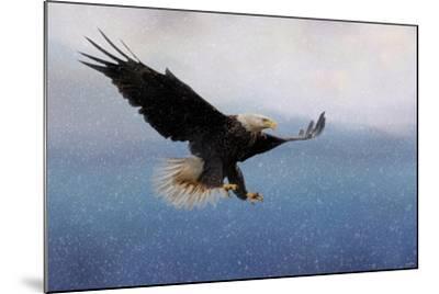 Snowy Flight Bald Eagle-Jai Johnson-Mounted Giclee Print