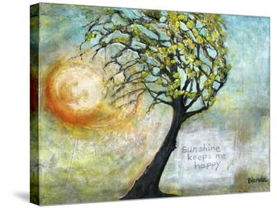 Sunshine Keeps Me Happy-Blenda Tyvoll-Stretched Canvas Print