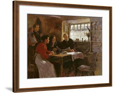 The 22nd January 1901 (Reading the News of the Queen's Death in a Cornish Cottage)-Stanhope Alexander Forbes-Framed Giclee Print