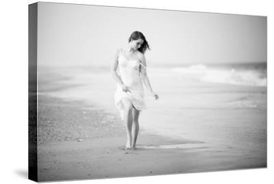 A Walk on the Beach- Jae-Stretched Canvas Print