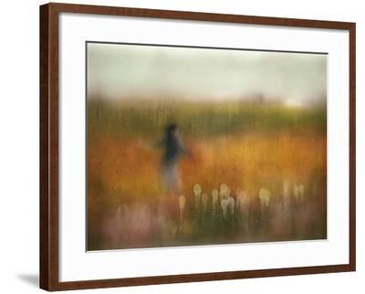 A Girl and Bear Grass-Shenshen Dou-Framed Photographic Print
